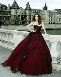 Amazing tulle burgundy gown