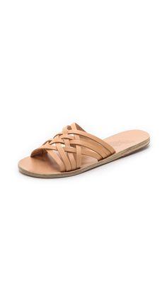 Ancient Greek Sandals Plekti Thais Slides - Natural | SHOPBOP.COM saved by #ShoppingIS
