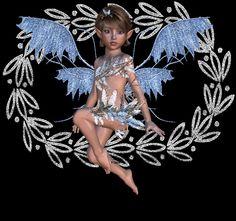 glitter graphic blue fairy