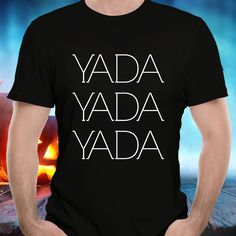 Yada Yada Yada T-shirt, Men's Premium Black Tee, 100% Cotton Pre-Shrunk Jersey, Great Gift Idea for Seinfeld Sitcom Fans https://etsy.me/2uDYFoA  #yadayadayadatee #seinfeldtee #seinfeldtshirt #seinfeldquotetee #funnyseinfeldtee