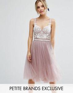 Treu Rosa 2017 Homecoming Kleider A-line Scoop Flügelärmel Tüll Pailletten Short Mini Elegante Cocktailkleider Weddings & Events