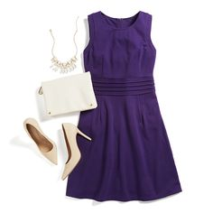 The most flattering dress ever—in multiple colors—for weddings, work or weekend. Dress it up with a statement necklace and neutral accessories to make the color of the dress really pop. Tell your Stylist you love the Dita!
