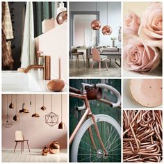 We're totally loving theblush and copper combo at the moment. The blush pink gives a room awarm and demurefeel, but adding copper spices things up and can make any old room look edgy and i…