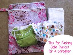 Packing cloth diapers for a caregiver/daycare