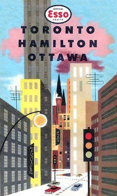 1959 Esso - Toronto / Hamilton / Ottawa Map