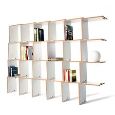 here's no better time to get organized than back to school. This modular shelving system is based on the repetition of one simple form. When fitted together, its L-shaped modules abandon linearity to form an undulating surface that is strong and sturdy for supporting books. Having won Germany's Interior Innovation Award 2012, it's a smart way to start the year.