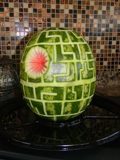 The Death Star watermelon for my son's Star Wars birthday party!  It was a huge hit!