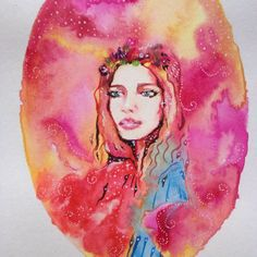 Sale // Watercolor painting // Flower head