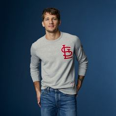 This season's in full swing. Refresh your fan gear with a classic Cardinals crewneck, made to take you from the office to the ballpark and everywhere in between. Handsome Boys, Street Wear, Menswear, Graphic Sweatshirt, Mens Fashion, Stylish, Sweatshirts, Casual, Fan Gear
