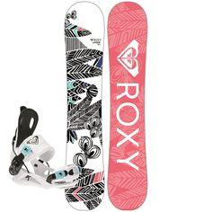 Roxy - Wahine Snowboard + Wahine SE Bindings - Women's 2017