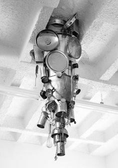 'Magnetic Stalactite', a pendulous sculpture consisting of a collection of random metal detritus. Kara Uzelman's first solo exhibition in Berlin, 'The Cavorist Project', takes as its starting point eccentric scientist Joseph Cavor, a character from H.G.Wells 1901 novel 'The First Men on the Moon', who developed an anti-gravitational material he named 'Cavorite'. Uzelman starts with a fiction from which a further fiction is elaborated, which attaches itself, barnacle like, to the first.