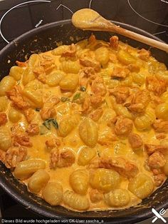 Curry gnocchi with chicken, a great recipe from the poultry category. - Curry gnocchi with chicken, a great recipe from the poultry category. Pasta Recipes, Chicken Recipes, Dinner Recipes, Cooking Recipes, Healthy Recipes, Recipe Chicken, Shrimp Recipes, Salmon Recipes, Crockpot Recipes