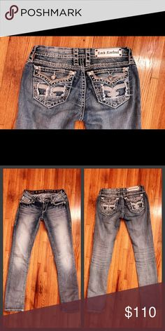SOLD! Rock Revival Lily Straight Wore and washed one time. 27x34, too big for me. $70 on eBay. Rock Revival Jeans Straight Leg