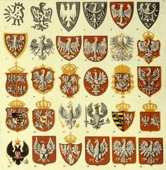 Historical Flags of Our Ancestors - The Evolution of the Polish Coat-of-Arms - Part 1 Medieval Symbols, Poland History, Polish Language, Visit Poland, Polish Folk Art, Arte Popular, My Heritage, Coat Of Arms, Eagle