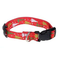 Dog Collar, Itery Pet Dog Wear Christmas Tree Adjustable Collar 1 Inch Width M