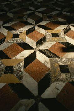 The marble floor in Santa Maria della Salute Church, Venice