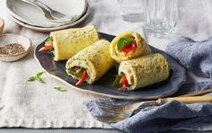 Sheet Pan Omelet Roll Ups Roll Ups Recipes, Clean Recipes, Keto Recipes, Cooking Recipes, Bariatric Recipes, Healthy Recipes, Free Recipes, Breakfast Dishes, Breakfast Recipes