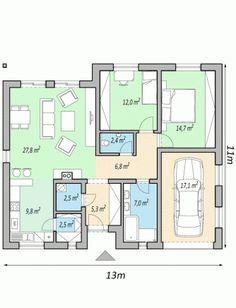 projekt rodinneho domu LIVE 3d House Plans, Design Case, My House, Home Furniture, Floor Plans, House Design, Cabin, How To Plan, Modern