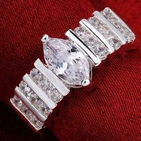 Real Solid Sterling Silver 925 Stamped Quality Guaranteed Never Rust or Green Finger AAA Grade Cubic