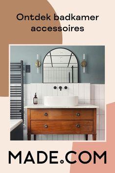 Small Bathroom Interior, Art Deco Bathroom, Loft Bathroom, Chic Bathrooms, Downstairs Bathroom, Diy Bathroom Decor, Bathroom Lighting, British Bathroom, Eclectic Living Room