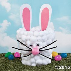 Bunny Bucket Idea | This Easter bunny bucket will be a favorite Easter craft! #Easter #bunny #crafts