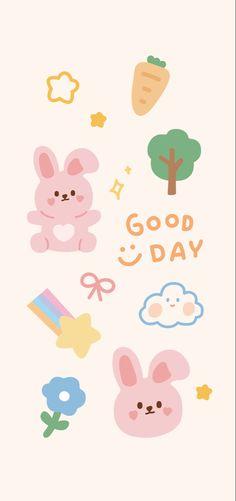 Cute Pastel Wallpaper, Soft Wallpaper, Bear Wallpaper, Cute Patterns Wallpaper, Cute Anime Wallpaper, Wallpaper Iphone Cute, Cute Cartoon Wallpapers, Aesthetic Iphone Wallpaper, Kawaii Doodles