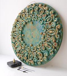 Ceramic Clocks On Pinterest Wall Clocks Clock And Ceramics