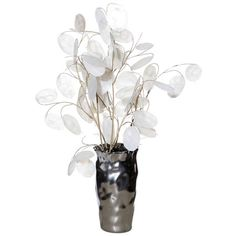 Enjoy the beauty of flowers throughout the seasons with the Faux Lunaria Arrangement III. Delicate, lifelike blossoms are finished in a bright white hue and ...