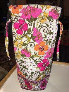VERA BRADLEY Tea Garden Cheers to You Wine Gift Bag    eBay