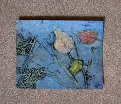 my printmaking journey: Teaching Printmaking in the schools - Collagraph prints from Nature