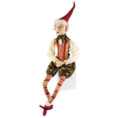 'Elijah' Elf Christmas Figure Soft Sculpture Doll => Amazing deals just a click away : Collectible Figurines for Christmas