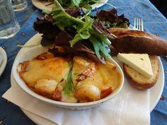Bonjour Brioche Brunch Lobster and Shrimp Crepe with bechamel sauce http://brunchosaurus.com/bonjour-brioche/