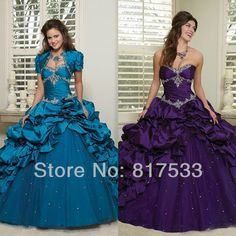 dresses sweet 16 party masquerade ball gowns dark blue quinceanera dress with jackets sweetheart satin and organza long puffy US $199.00