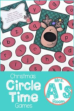 These Christmas circle time activities are so much fun! A perfect way to spice up circle time with letters and sounds in your preschool or kindergarten classroo Circle Time Games, Circle Time Activities, Circle Game, Literacy Activities, Preschool Christmas Activities, Preschool Literacy, Preschool Themes, Preschool Crafts, Kindergarten Classroom