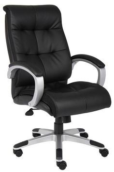 Boss Office Products B8771S-BK Boss Double Plush High Back Executive Chair
