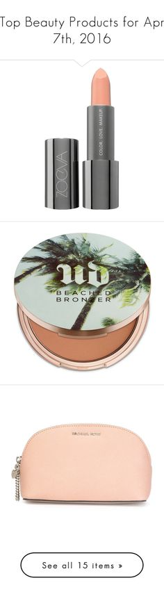"""""""Top Beauty Products for Apr 7th, 2016"""" by polyvore ❤ liked on Polyvore featuring beauty products, makeup, lip makeup, lipstick, easy spirit, paraben free lipstick, paraben-free lipstick, moisturizing lipstick, cheek makeup and cheek bronzer"""