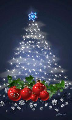 Animated Christmas wallpaper for your phone sparkles and snows. Merry Christmas Gif, Christmas Scenes, Vintage Christmas Cards, Christmas Love, Christmas Wishes, Christmas Pictures, Christmas Greetings, Beautiful Christmas, Christmas Holidays