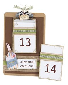 Jolee's Boutique® Clipboard Calendar Countdown #papercrafting #craft
