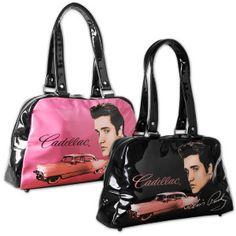 Elvis Cadillac Handbag. I want the pink one