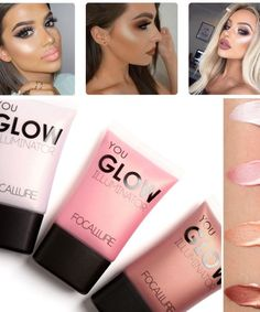 2017 Face Highlighter Waterproof Contour Make Up Glitter Brighten Focallure Brand Shimmer Glow Liquid Highlighters Makeup Eyelash Glue, Eyelash Curler, Face Contouring, Contour Makeup, Cheek Makeup, Face Makeup, Beauty Bar, Beauty Makeup, Highlighter And Bronzer
