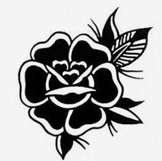 Traditional Tattoo Drawings, Traditional Tattoo Flowers, Traditional Tattoo Old School, Rose Tattoo Black, Black Tattoos, Grey Tattoo, Tattoo Ink, Old School Tattoo Designs, Small Tattoo Designs