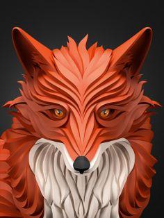 Fox illustration by Maxim Shkret