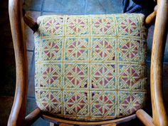 Starmore pattern used in upholstery