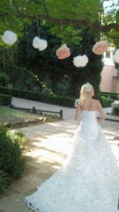 Pom pom bride Girls Dresses, Flower Girl Dresses, To My Daughter, Wedding Day, Bride, Wedding Dresses, Flowers, Beauty, Fashion