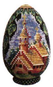 Beaded Egg Easter Church Pattern
