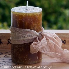 HONEY MEAD™ Gilded Blót Candle w/ Real Honey by ArtisanWitchcrafts