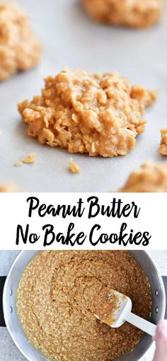 Peanut Butter No Bake Cookies are a delicious spin on the traditional no bakes. … Peanut Butter No Bake Cookies are a delicious spin on the traditional no bakes. Everyone loves these chewy cookies with peanut butter and oats! Chocolate Chip Shortbread Cookies, Oat Cookies, Peanutbutter No Bake Cookies, No Butter Cookies, Peanut Butter No Bake, Peanut Butter Desserts, Easy No Bake Cookies, Yummy Cookies, Baking Recipes
