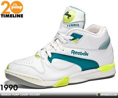 1990 Reebok Court Victory. (The Pumps with the fuzzy tennis ball.)