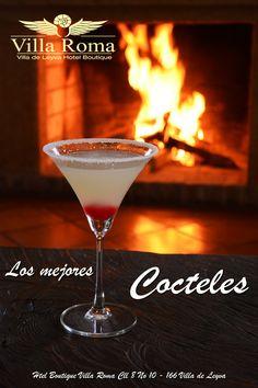 Los mejores #cócteles Ven a disfrutar de unos cócteles frente a una chimenea acogedora en el @HotelBoutiquevillaroma #Villadeleyva