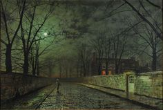 Silver Moonlight Art Print by John Atkinson Grimshaw.  All prints are professionally printed, packaged, and shipped within 3 - 4 business days. Choose from multiple sizes and hundreds of frame and mat options.
